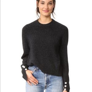 Phillip Lim Brushed Wool Sweater Faux Pearls S P